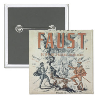 Poster advertising 'Faust' 2 Inch Square Button