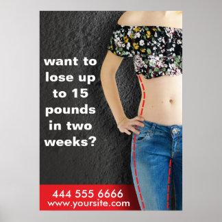 poster advertising for diet
