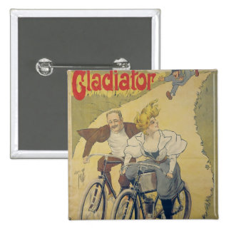Poster advertising Gladiator bicycles 2 Inch Square Button