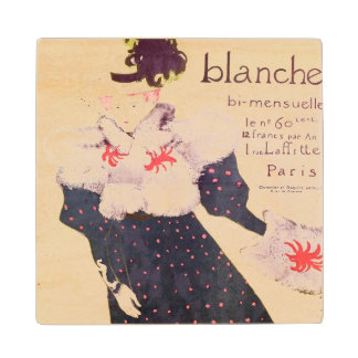 Poster advertising 'La Revue Blanche', 1895 Wood Coaster