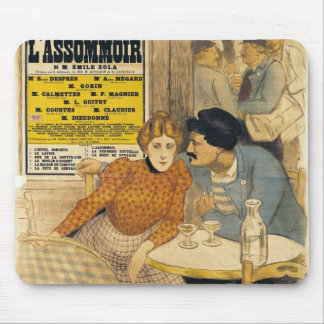 Poster advertising L'Assommoir by M.M.W. Mousepads
