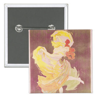 Poster advertising Loie Fuller 2 Inch Square Button