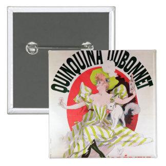 Poster advertising Quinquina Dubonnet' 2 Inch Square Button