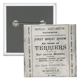 Poster advertising the Allied Terrier Club 2 Inch Square Button