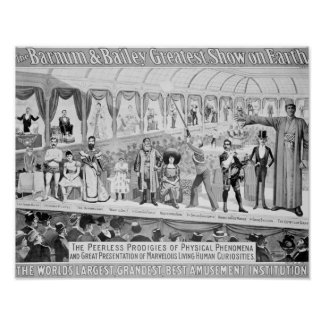 Poster advertising, 'The Barnum and Bailey