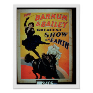 Poster advertising 'the Barnum and Bailey Greatest