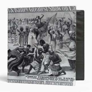 Poster advertising, 'The Barnum and Bailey Vinyl Binders