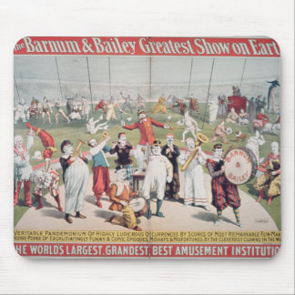 Poster advertising the Barnum Mouse Pads