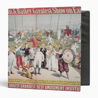 Poster advertising the Barnum Vinyl Binder