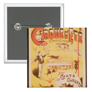 Poster advertising the Cirque d'Ete in the 2 Inch Square Button