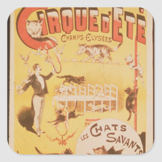 Poster advertising the Cirque d'Ete in the Stickers