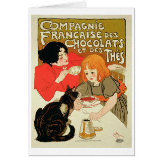 Poster Advertising the French Company of Chocolate Card