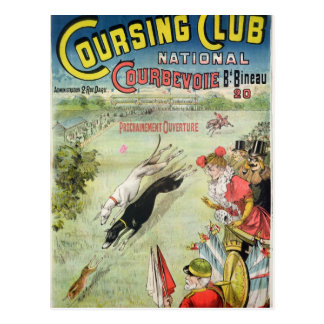 Poster advertising the opening of Coursing Postcard