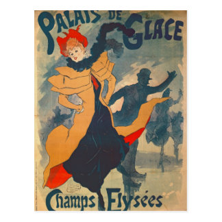 Poster advertising the Palais de Glace Postcard