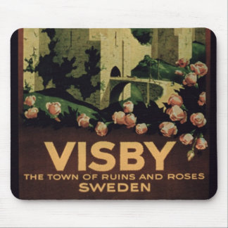 Poster advertising the town of Visby, Sweden (colo Mousepad