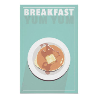 Poster Affiche de petit déjeuner Yum