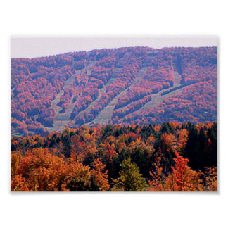 Poster - Autumn Ski Slopes