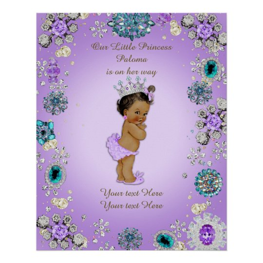 Poster Baby Girl, Lavender,