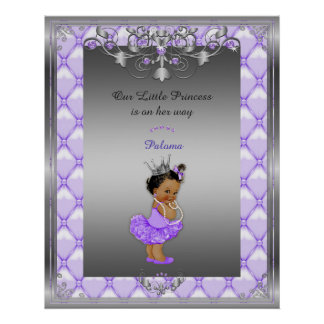 Poster Baby Girl, silver, frame, purple, 16x20