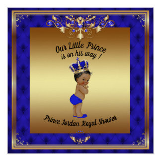 Poster Baby Shower Boy,prince baby boy, blue,20x20
