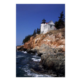 Poster / Bass Harbor Head Lighthouse Maine