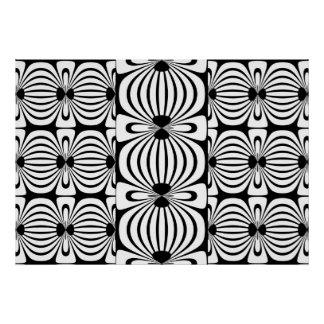Poster Black & White Style Abstract Bloom 3