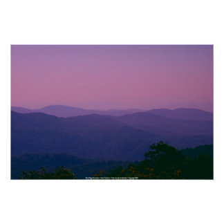 Poster Blue Ridge Mountains - North Carolina...