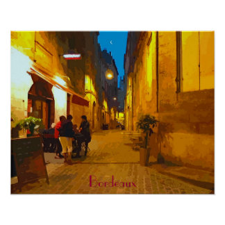 """Poster """"Bordeaux"""" 20""""x16"""""""