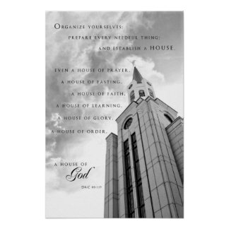 Poster - Boston Massachusetts LDS Temple