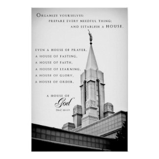 Poster - Bountiful Utah LDS Temple
