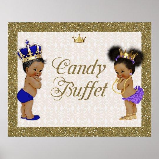 Poster Candy Buffet, gold, glitter