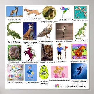 Poster Club des Cousins