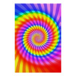 Poster: Colourful Spiral Pattern Poster