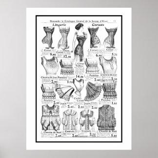 Poster Corsets 1909-1910 Advertisement