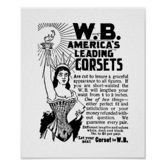 Poster Corsets The Ladies World January 1896