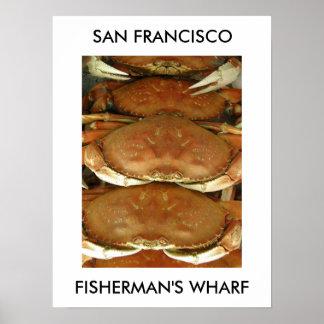 Poster, CRAB, SAN FRANCISCO, FISHERMAN'S WHARF Poster