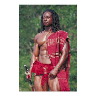 "Poster, David Adomah as ""The Afrikan"" Poster"