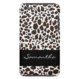 Poster de animal customisé de léopard de neige étui iPod touch
