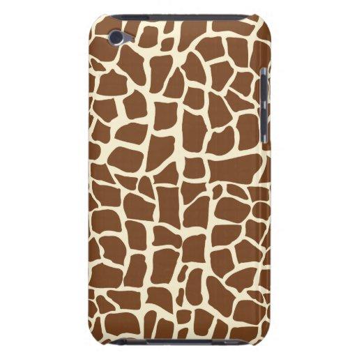 Poster de animal de motif de girafe étui iPod touch