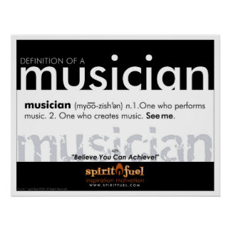 Poster Definition - Musician
