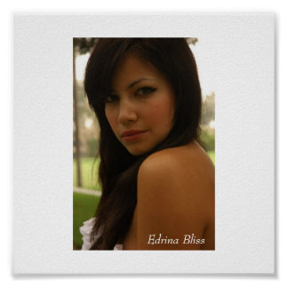Poster Edrina Bliss ACTING AND MODELING