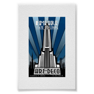 Poster - Empire State Building Art Deco