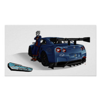 Poster: FANTOM and his SHADDOWRYDERZ GT-R Skyline Poster