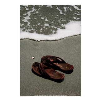 POSTER-  Flip Flops - Bald Head Island, NC - P... Poster