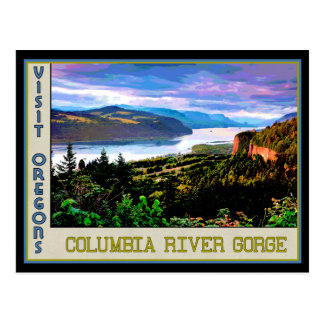 Poster for Columbia River Gorge in Oregon Postcard