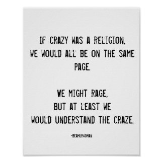 Poster for Framing If Crazy Was a Religion