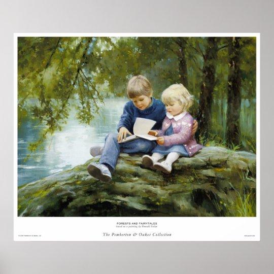 Poster Forêts et contes de fées