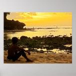 "Poster full size (24""x18"")  Padang Beach Bali"