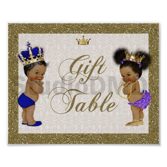 poster Gift Table, gold, glitter
