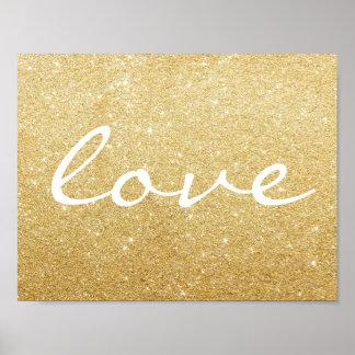 Poster - Glitter love